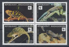 1999 WWF Gyíkok négyestömb Mi 2313-2316