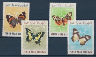1966 Lepkék sor Mi 490-493