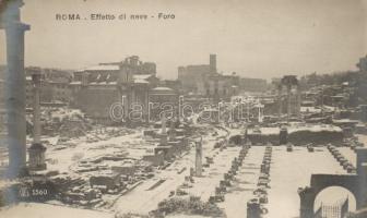 Roma snowy ruins