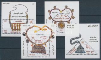 2001 Ezüst- és aranyművesség blokk sor Mi 26 + 27 + 28 + 29