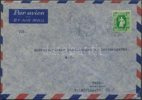 1947 Forint- fillér 1,40Ft légi levélen Svájcba