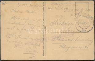 1917 Tábori posta képeslap Romániából FP 230