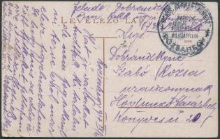 1917 Képeslap / Postcard from disabled hospital M. KIR ROKKANTKÓRHÁZ RÓZSAHEGY