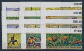 1977 Ritka állatok sor 12 db hármascsíkon ívszéllel Mi 793-828