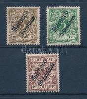 Marocco 1899 Mi 1-2 + 6