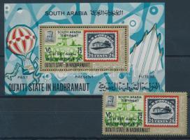 1967 Bélyegkiállítás AMPHILEX, Amszterdam bélyeg 105 + blokk 6