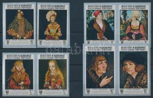 1967 Lucas Cranach festményei sor Mi 147-154
