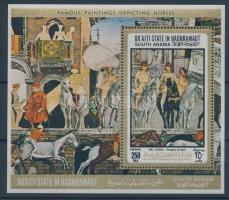 1967 Lovas festmények blokk 19