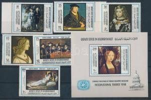 1967 A turizmus nemzetközi éve: Festmények sor Mi 169-176 + blokk 21