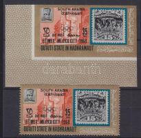 1968 Bélyegkiállítás EIMEX, Mexikóváros bélyeg Mi 2222 A-B