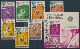 1966 100 éves az ITU Mi 84-90 + blokk 1