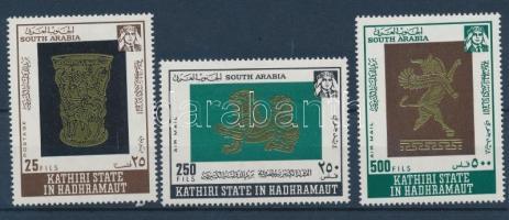 1968 Arab aranyművesség sor Mi 220-222