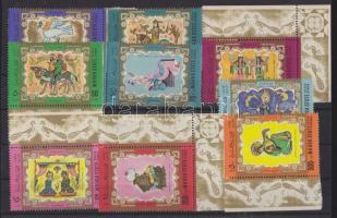 1967 Arab művészet sor ívszéllel Mi 30-38