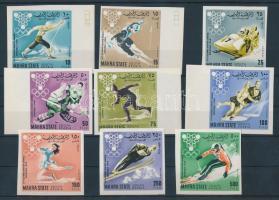 1967 Téli olimpiai játékok vágott sor Mi 39-47