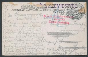 1915 Czestochowai képeslap EP DABROWA in POLEN a + Kreiskommando DOMBROWA Zensurstelle