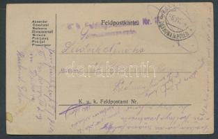 1918 Tábori lap EP DABROWA in POLEN b