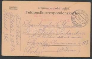 1916 Tábori lap / Field postcard EP HRUBIESZOW b + Feldbahn Nr2 Betriebssektion 2.