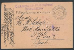 1917 Tábori lap EP HRUBIESZOW a + Etappenpost und Telegraphenamt HRUBIESZOW