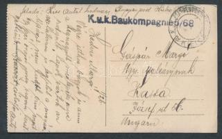 1915 Kielce képeslap EP KIELCE a + Baukompagnie 5/68