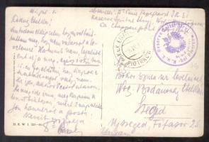 1915 Képeslap tábori kórházból / Postcard from field hospitaql Reserve Spital Stryj - bei Piotrkow + EP PIOTRKOW a