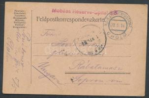 1916 Tábori lap tábori kórházból / Pstcard from field hospital Mobiles Reserve Spital 5/5 + EP CHOLM