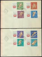 1963 Téli olimpia (II.)- Innsbruck vágott sor 2db FDC-n (3.500)