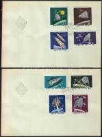 1964 Az űrkutatás eredményei (I.) vágott sor 2db FDC-n (3.500)