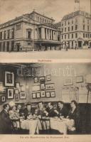 Hamburg, Stadttheater, Restaurant Aué, Künstlerecke / theatre, restaurant, artist corner, interior