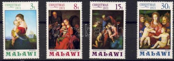 1971 Karácsony, Madonna festmények Mi 174-177