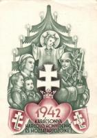 1942 WWII Hungarian Christmas greeting, 1942 Karácsonya Harcoló honvédeinké és hozzátartozóiké