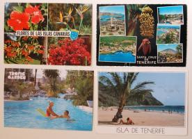 240 db érdekes képeslap a Kanári szigetekről, színes anyag