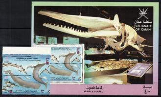 1993 Delfinek és bálnák pár Mi 372-373 + blokk 10
