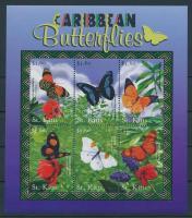 2001 A Karib-tenger növény- és állatvilága sor kisív Mi 565-570