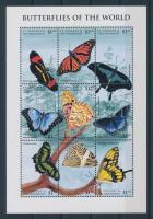 Schmetterlinge Kleinbogen + 2 Blöcke, Lepkék kisív + 2 blokk 2 stecklapon, Butterflies minisheet + 2 blocks