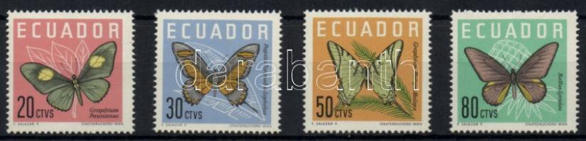 1961 Lepkék sor Mi 1070-1073