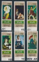 1969 Kultur- Olympiade Mexikó (VII.) vágott sor Mi 1005-1010