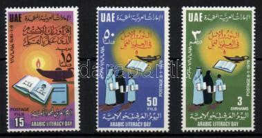 1976 Arab írni-olvasni tudás nap sor Mi 48-50