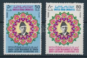1976 Mohammed ALi Jinnah 100. születésnapja sor Mi 75-76