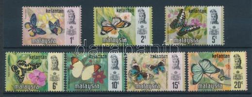 Kelantan 1971 Lepkék sor Mi 97 I-103 I