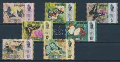 Trengganu 1971 Lepkék sor Mi 97-103