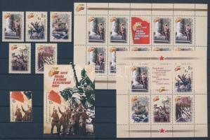 2005 Háború sor + kisív Mi 1248-1253 + blokk 77-78