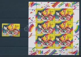 2002 Europa CEPT: Cirkusz bélyeg + kisív Mi 987