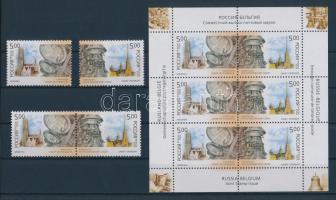 2003 Belga-orosz közös kiadás sor + sor párban + kisív Mi 1086-1087