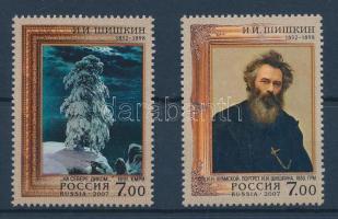 2007 175 éve született Iwan Schischkin sor Mi 1392-1393 + kisívsor