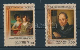 2007 250 éve született Wladimir Borowikowskij sor Mi 1411-1412 + kisívsor