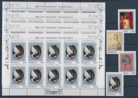 2002 150 éves az új Ermitázs Múzeum sor + kisívsor Mi 961-964