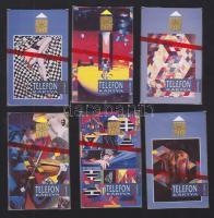 1992 Modern festmények 6 darabos használatlan telefonkártya sorozat