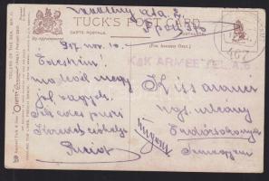 1917 Tábori képeslap KuK ARMEE TEL. AB + FP 467