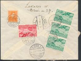 Airmail cover to Vienna, Légi levél Bécsbe