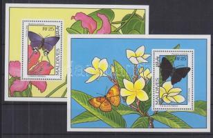 1993 Lepkék és virágok blokk 295-296